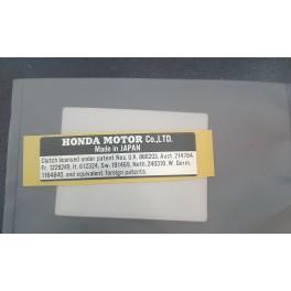 Honda 87125-001-600 Plate Maker Sticker