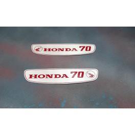 Honda 70 Petrol Tank Sticker Set