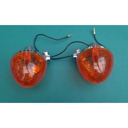 Honda C70 2 Back indicators Chrome