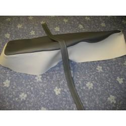 Honda C100 Seat Cover Gray AND CREAM
